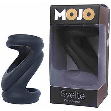 Gopaldas Mojo Svelte, черная Эрекционная насадка gopaldas super stretch силиконовая насадка на пенис