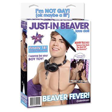 Pipedream Just-In Beaver Секс-кукла, pipedream dillio fancy fit harness черные трусики крепление с фиолетовыми застежками