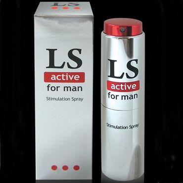 Bioritm Lovespray Active Men, 18 мл Cпрей-лубрикант с возбуждающим эффектом bioritm lovespray profi 18мл силиконовый спрей лубрикант