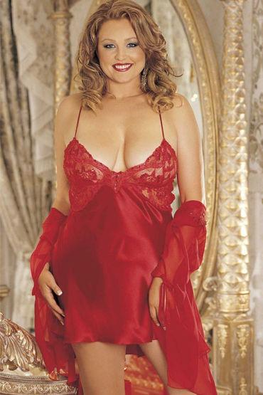 Shirley комбинация, красная С роскошным лифом вибромассажер toyfa black