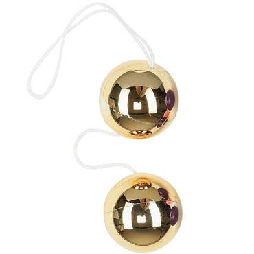 Dream toys шарики, золотые Вагинальные, диаметр 3,5 см dream toys шарики на нитке пластик 4 штуки