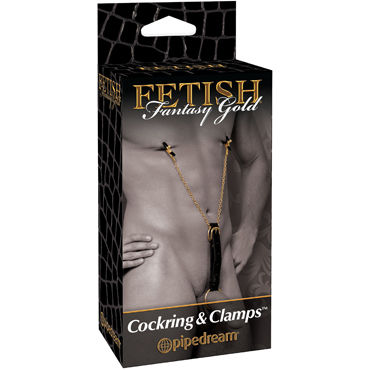 Pipedream Gold Cockring & Nipple Clamps