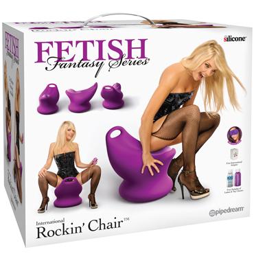 Pipedream Fetish Fantasy Series International Rockin' Chair, фиолетовый Сиденье с вибростимуляцией и пультом управления веревка для бондажа fetish fantasy series japanese silk rope черная