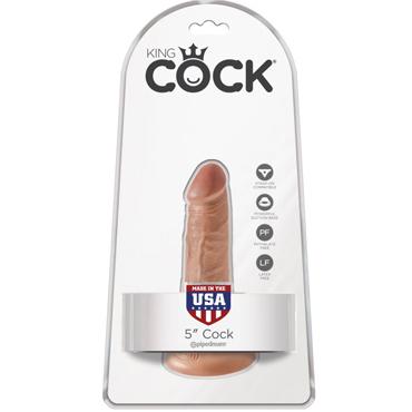 Pipedream King Cock 5 Cock, загорелый телесный Фаллоимитатор на присоске bioritm заманиха 10 шт шипучие таблетки для женщин