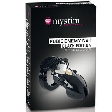 Mystim Pubic Enemy No1, черный Пояс верности с элетростимуляцией пояс верности для мужчин the prisoner