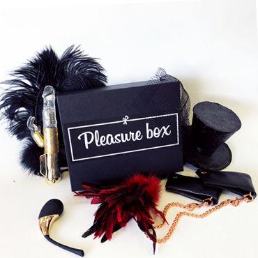 Pleasure Box Black для Неё Набор для сексуальных экспериментов анальная пробка с ду