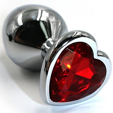 Funny Steel Anal Plug Al Small, серебристый/красный Анальная пробка с кристаллом в форме сердца t casmir nell set
