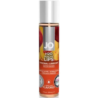 JO H2O Peachy Lips, 30 мл Съедобный лубрикант с ароматом Персик съедобный гель лубрикант lick it vanillel ваниль 50 мл