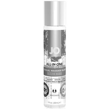 JO All-In-One Massage Glide Fragrance Free, 30 мл Массажное масло и лубрикант без запаха массажный гель масло all in one massage oil cucumber огуречный 120 мл
