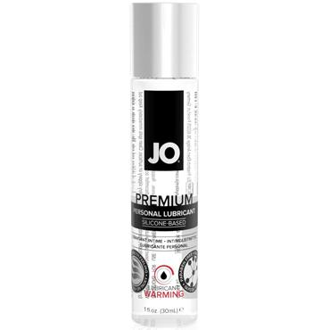 JO Premium Lubricant Warming, 30 мл Лубрикант на силиконовой основе с согревающим эффектом эрекционное кольцо vibrating ring со стимулятором клитора с вибрацией черное
