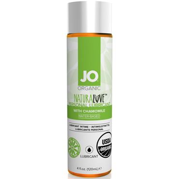 JO Naturalove USDA Organic, 120 мл Органический лубрикант на водной основе, с экстрактом ромашки fun factory share xl ярко розовый безремневой страпон внушительных размеров