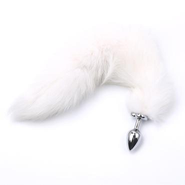 Runyu Fox Tail Plug, серебристый/белый Анальная пробка с пушистым хвостиком fox женская мастурбация беспроводной заряд прыгающих яиц спокойно носить шок палки забавные вещи розы красный