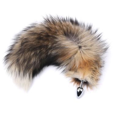 Runyu Fox Tail Plug, серебристый/разноцветный Анальная пробка с пушистым хвостиком fox женская мастурбация беспроводной заряд прыгающих яиц спокойно носить шок палки забавные вещи розы красный
