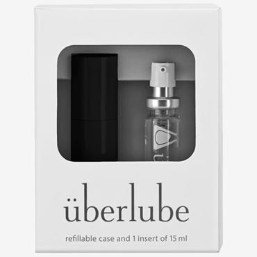 Uberlube Good-to-Go, 15 мл Лубрикант на силиконовой основе с витамином Е и футляром черного цвета лубрикант cпрей uberlube silicone good to go silver 15 мл