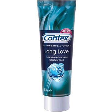 Contex Long Love, 30 мл Охлаждающий лубрикант-пролонгатор двухцветный cтик glas purple rose nubby