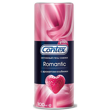 Contex Romantic, 100 мл Лубрикант с ароматом клубники contex гель смазка romantic романтик 100 мл
