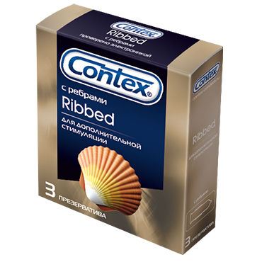 Contex Ribbed, 3 шт Презервативы с кольцами презервативы okamoto skinless skin super lubricative 3 шт