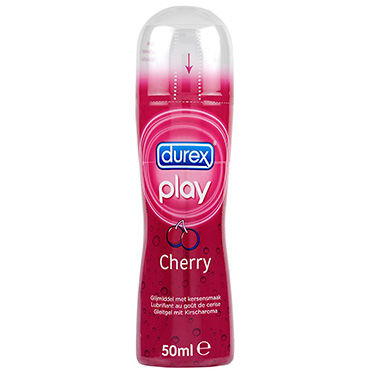 Durex Play Cherry, 50 мл Лубрикант с ароматом вишни podium цепи с карабинами 15 см с соединительным кольцом