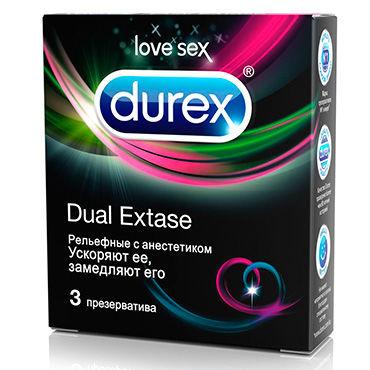 Durex Dual Extase, 3 шт Презервативы для одновременного достижения оргазма обоими партнерами набор анальных втулок anal training set