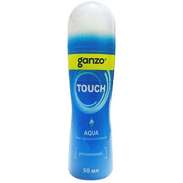 Ganzo Touch Aqua, 50 мл Нейтральный лубрикант на водной основе анальный cтимулятор penis probe clear blue