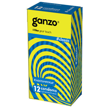 Ganzo Classic Презервативы классические анальная римминг пробка baile pretty love с дистанционным управлением черная