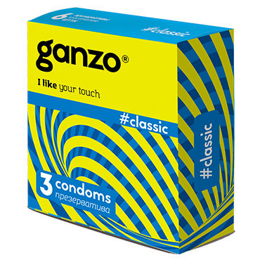 Ganzo Classic Презервативы классические страпоны и фаллопротезы для мужчин цвет красный