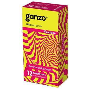 Ganzo Extase Презервативы c кольцами и пупырышками ganzo long love презервативы продлевающие