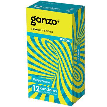 Ganzo Ribs Презервативы с ребрышками ф toyfa real stick elite dildo 16 см