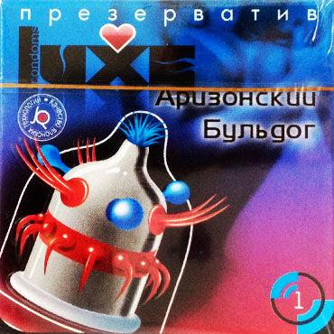 Luxe Maxima Аризонский Бульдог Презервативы с усиками и шариками luxe поцелуй ангела с тремя шариками 1