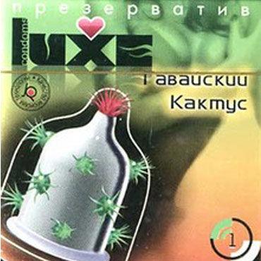 Luxe Maxima Гавайский Кактус Презервативы с усиками черные стринги ibi l xl