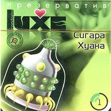 Luxe Maxima Сигара Хуана Презервативы с усиками и шариками презерватив luxe maxima желтый дьявол 1