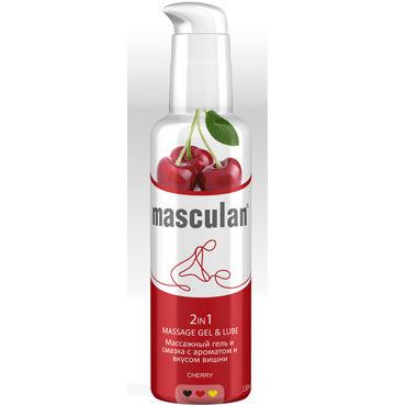 Masculan Massage Gel&Lube Cherry, 130 мл Средство 2в1 с запахом и вкусом вишни море декорации дизайн pu кожа флип кошелек карты держатель чехол для samsung galaxy j1 2016 j120f