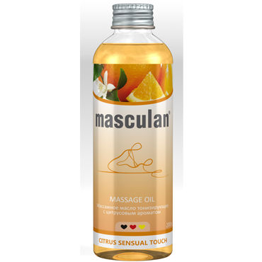 Masculan Massage Oil Citrus Sensual Touch, 200 мл Массажное масло с цитрусовым ароматом 20 speeds female wireless remote control vibrating egg sex toys