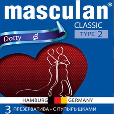 Masculan Classic Dotty Презервативы с пупырышками lelo sensua черный замшевая плеть для страстных игр