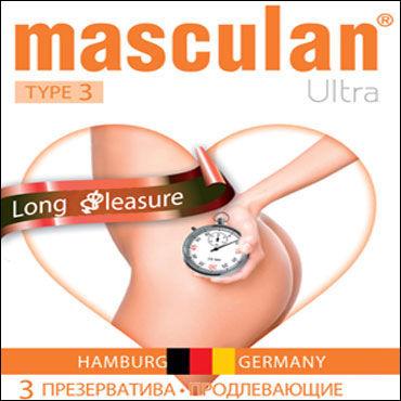 Masculan Ultra Long Pleasure Презервативы продлевающие podium стек 70 см черно красный наконечник кисточка 20 см лакированный