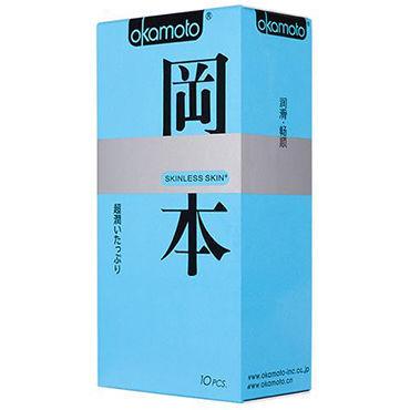 Okamoto Skinless Skin Super Lubricated Презервативы с обильной смазкой для максимально естественных ощущений цена