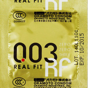 Okamoto Real Fit Презервативы самые тонкие латексные, анатомической формы е бдсм стеки материал натуральная кожа
