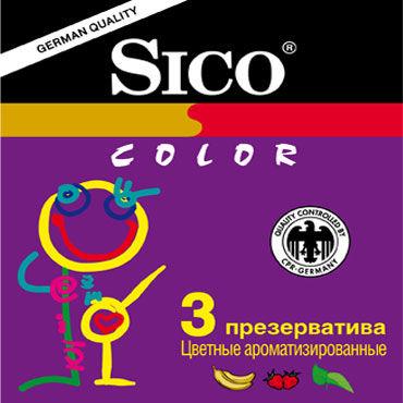 Sico Colour Презервативы цветные ароматизированные увлажняющий комплекс coochy be original 15 мл