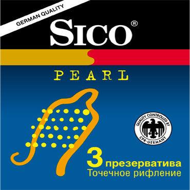 Sico Pearl Презервативы с пупырышками sitabella ошейник белый широкий с шипами и поводком
