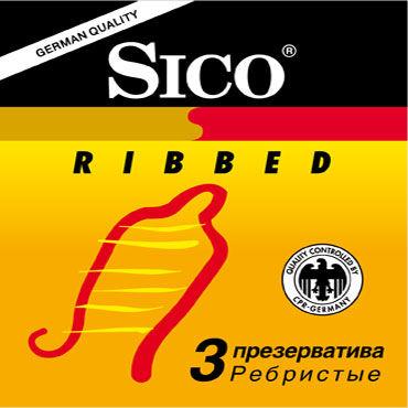 Sico Ribbed Презервативы с кольцами sico презервативы ribbed ребристые 3 шт