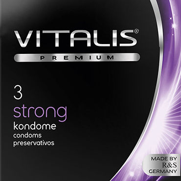 Vitalis Strong Презервативы особо прочные thierry 23 5cm realistic huge dildo with testis flexible penis textured dick with suction cup sex toy for women 111 5000 thie