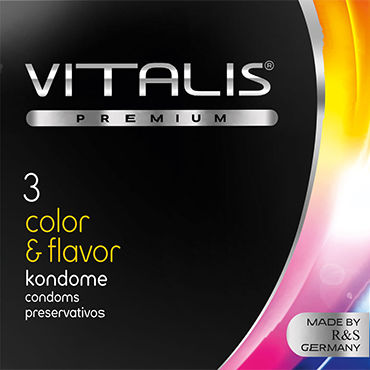 Vitalis Color & Flavor Презервативы цветные ароматизированные pjur мужской лубрикант pjur superhero lubricant 30 мл