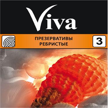 Viva Ребристые Презервативы с кольцами viva для узи презервативы для узи