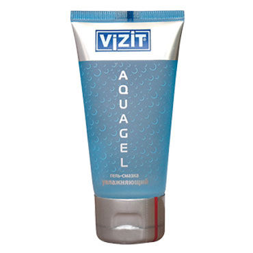 Vizit Aqua, 50 мл Прозрачный увлажняющий лубрикант анальный массажер sexus glass 13 5 см