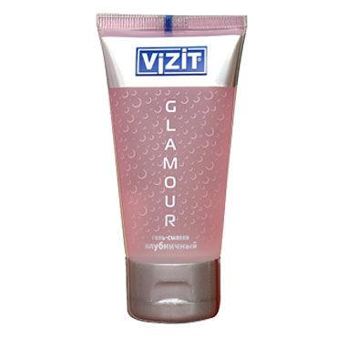 Vizit Glamour, 60 мл Лубрикант с ароматом клубники возбуждающий лубрикант jo personal h2o warming 60 мл
