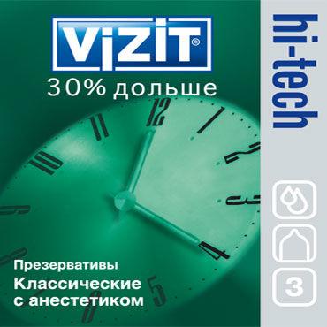 Vizit Hi-Tech 30% дольше с кольцами Презервативы продлевающие с кольцами topco bottoms up finger rimmers 5 см прозрачный анальный стимулятор на палец