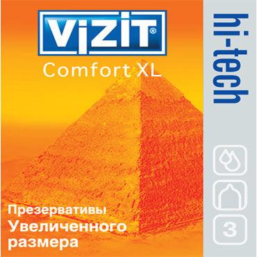 Vizit Hi-Tech Comfort XL Презервативы увеличенного размера mio мужской презерватив тонкие презервативы 30 шт секс игрушки для взрослых