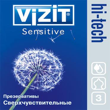Vizit Hi-Tech Sensitive Презервативы особой анатомической формы vizit hi tech ultra light презервативы ультратонкие