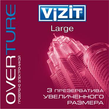 Vizit Overture Large Презервативы увеличенного размера презервативы визит overture классика 3шт