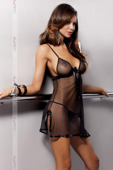 Casmir Kea, черная Откровенная сорочка и стринги черная сорочка и стринги angela xxl 3xl